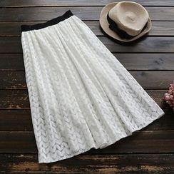 YOYO - 蕾絲長款裙