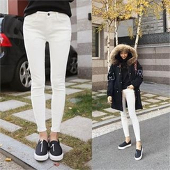 QNIGIRLS - Brushed Fleece-Lined Skinny Pants