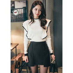 Chlo.D.Manon - Cutout-Hem A-Line Mini Skirt