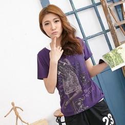 RingBear - Short-Sleeve Printed T-Shirt