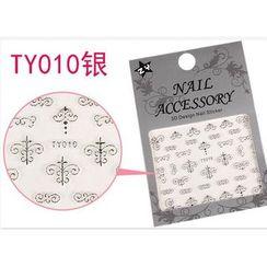 Benlyz - 3D Nail Sticker (TY-10S)