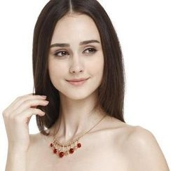 O.SA - Jeweled Cutout Necklace