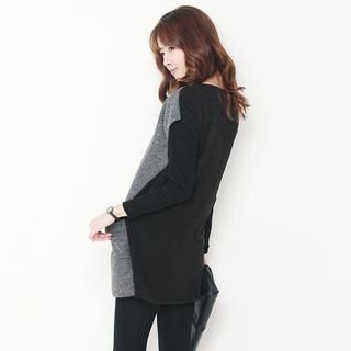 Stylementor - Short-Sleeved Knit Mini Sweater Dress