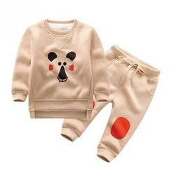 Endymion - Kids Set: Printed Pullover + Color Panel Jogger Pants