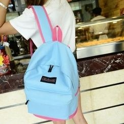 Crystal - Color-Block Canvas Backpack