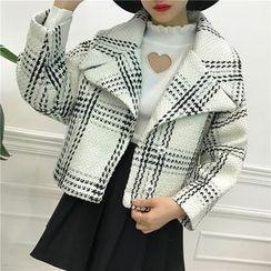 Octavia - Plaid Cropped Woolen Coat
