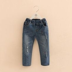 貝殼童裝 - 兒童綴飾牛仔褲