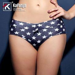 Kafanya - 星星印花内裤