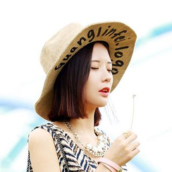 FROME - Printed Floppy Straw Hat