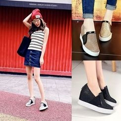 Shoes Galore - Hidden Wedge Slip-Ons