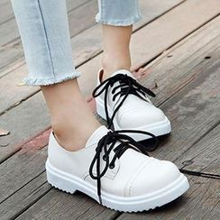Mancienne - Contrast-Color Sneakers