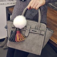 Youme - Tassel Faux Leather Handbag