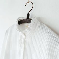 Bonbon - Frill Trim Long-Sleeve Shirt