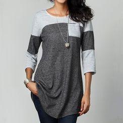 Rampi - 双色七分袖T恤