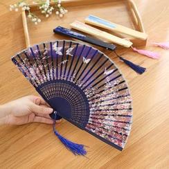 Lazy Corner - Print Hand Fan