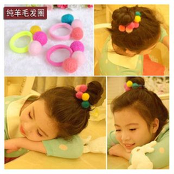 Aurabe - Kids Pompom Wool Hair Tie
