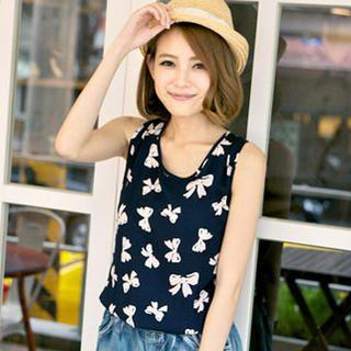 Tokyo Fashion - Mock Two-Piece Sleeveless Playsuit