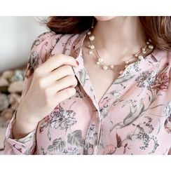 Marlangrouge - Floral-Pattern Chiffon Dress