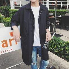 子俊 - 纯色长款夹克