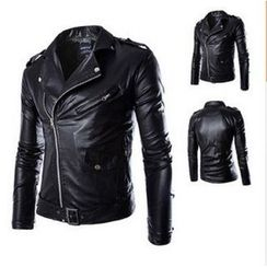 Blueforce - Faux Leather Biker Jacket
