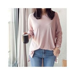 MASoeur - Round-Neck Dip-Back T-Shirt