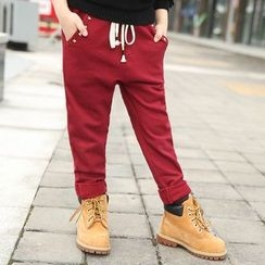 Famula - Studded Fleece-Lined Sweatpants