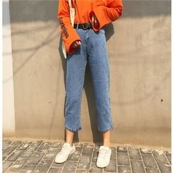Jeans Kingdom - Cropped Wide Leg Jeans