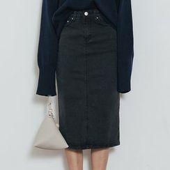 Heynew - Midi Denim Skirt