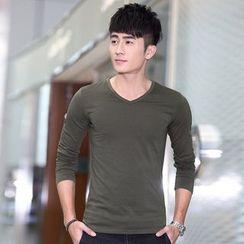 Walwa - V-neck Long-Sleeve T-shirt