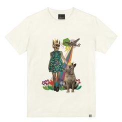 the shirts - Dog with a Crown Print T-Shirt