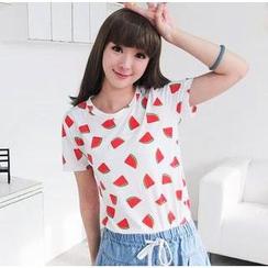 59 Seconds - Watermelon Print T-Shirt