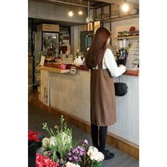 CHERRYKOKO - Dual-Strap Wool Blend Jumper Dress