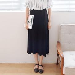Forest Girl - Slit Midi Skirt