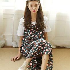 Porta - Floral Print Strap Dress