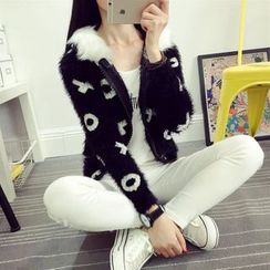 Hibisco - Furry Thick Knit Jacket