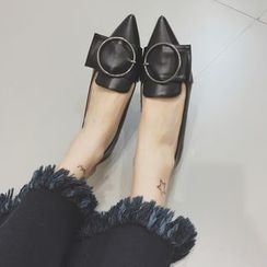 Crystella - Buckled Pointed Flats