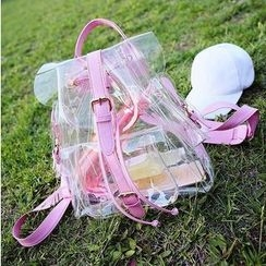 Youme - Buckled Transparent Backpack
