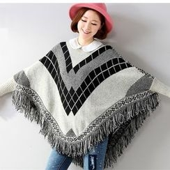 Hibisco - Fringe Patterned Long Sweater