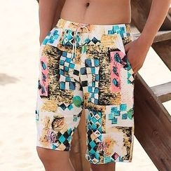 BOIE - Printed Drawstring Swim Shorts
