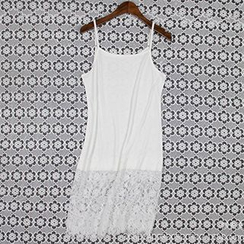 LaRos - Lace Panel Strappy Dress