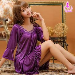 Ayoka - Flutter-Sleeve Nightdress