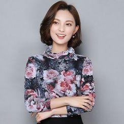 Yumerakka - Floral Long-Sleeve T-Shirt