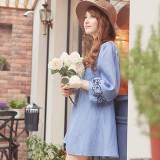 Tokyo Fashion - Embroidered Denim Tunic