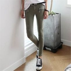 CHICFOX - Distressed Skinny Pants