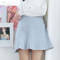 Porta - Mermaid Linen Cotton A-line Skirt