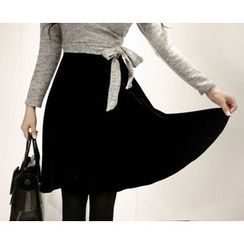 Marlangrouge - Velvet Flare Skirt