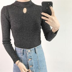 Anlay - Slim-Fit Mock-Neck Cutout Sweater