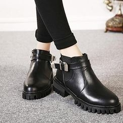 Mancienne - Belted Ankle Boots