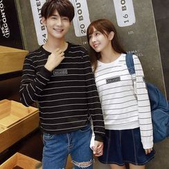 CASSY - Striped Couple Matching Pullover