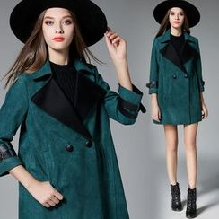 Lina Love - Faux-Suede Trench Coat